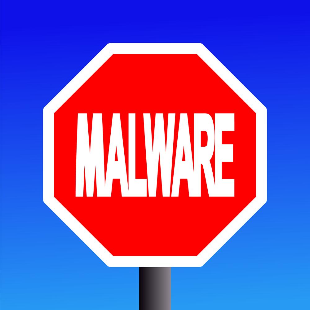 Malware-stop-sign