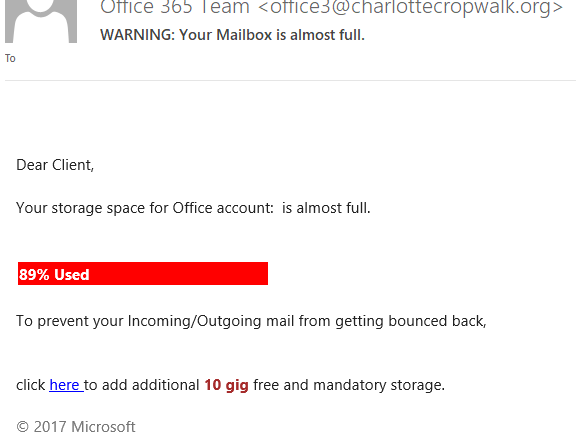 Your mailbox is almost full Spam Tech Info Solutions