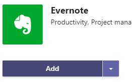 using evernote with microsoft teams